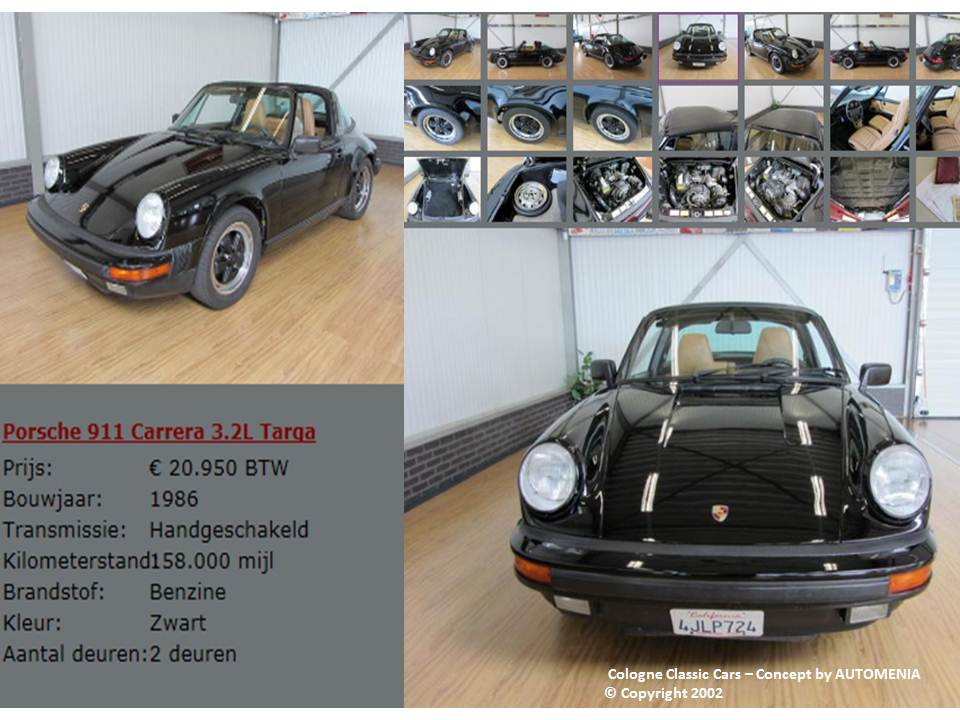 Porsche 911 Carrera Targa by AUTOMENIA