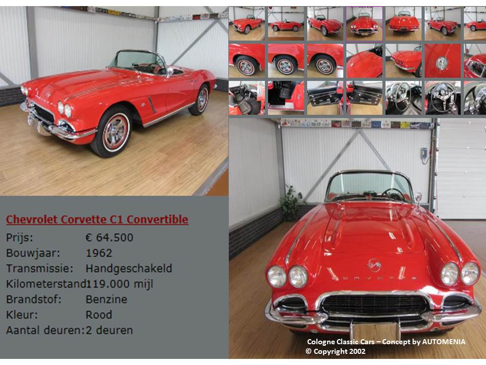 Corvette C1 Convertible 1962 by AUTOMENIA
