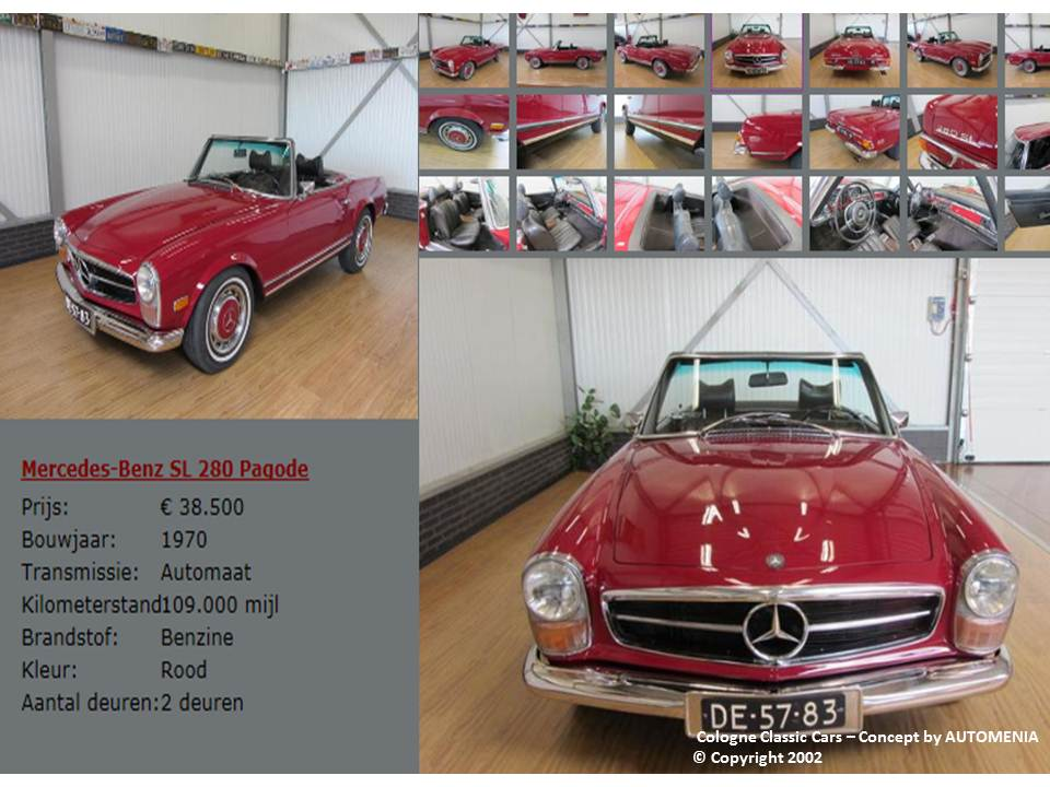 Mercedes Benz Pagode 280 SL by AUTOMENIA