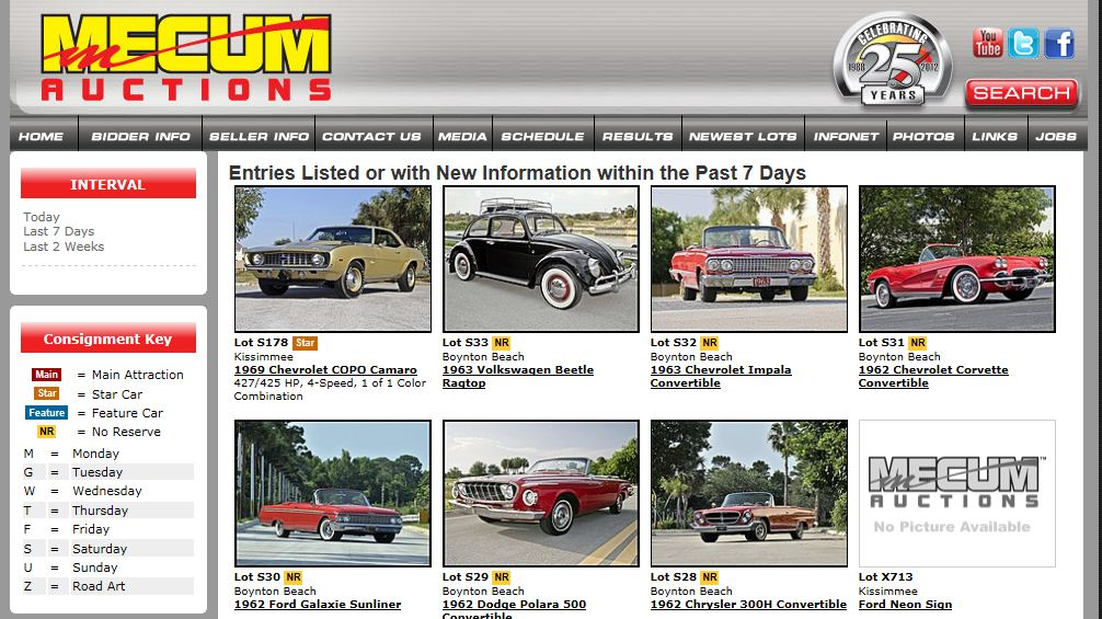 The best Cars Auctionen - in USA by AUTOMENIA 2013