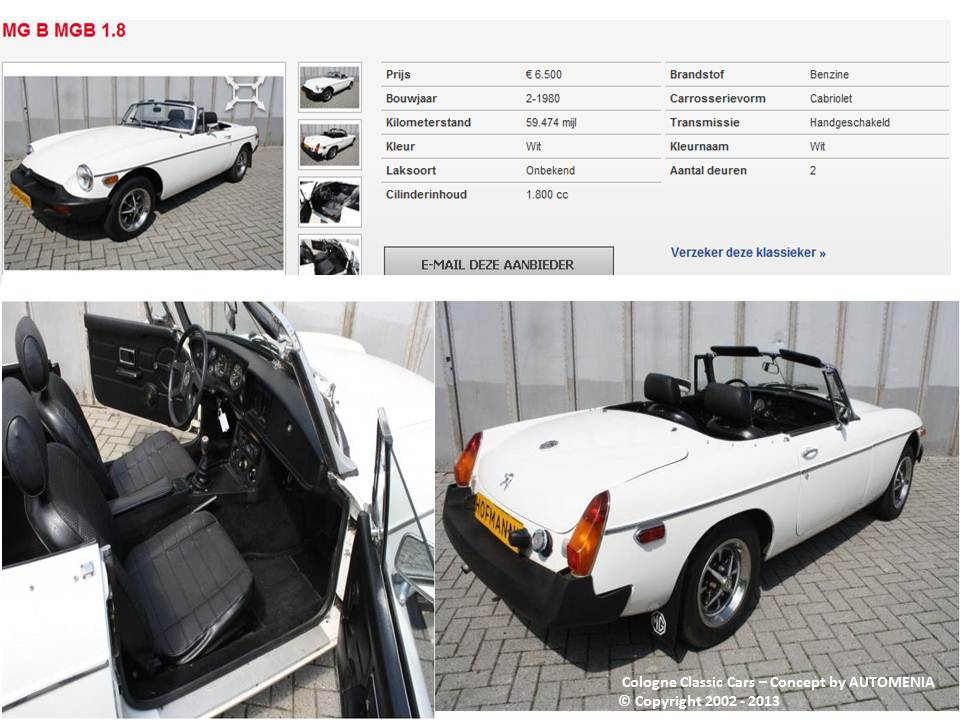 MG MGB 1.8 Classic Cabrio Modell 1980 by AUTOMENIA