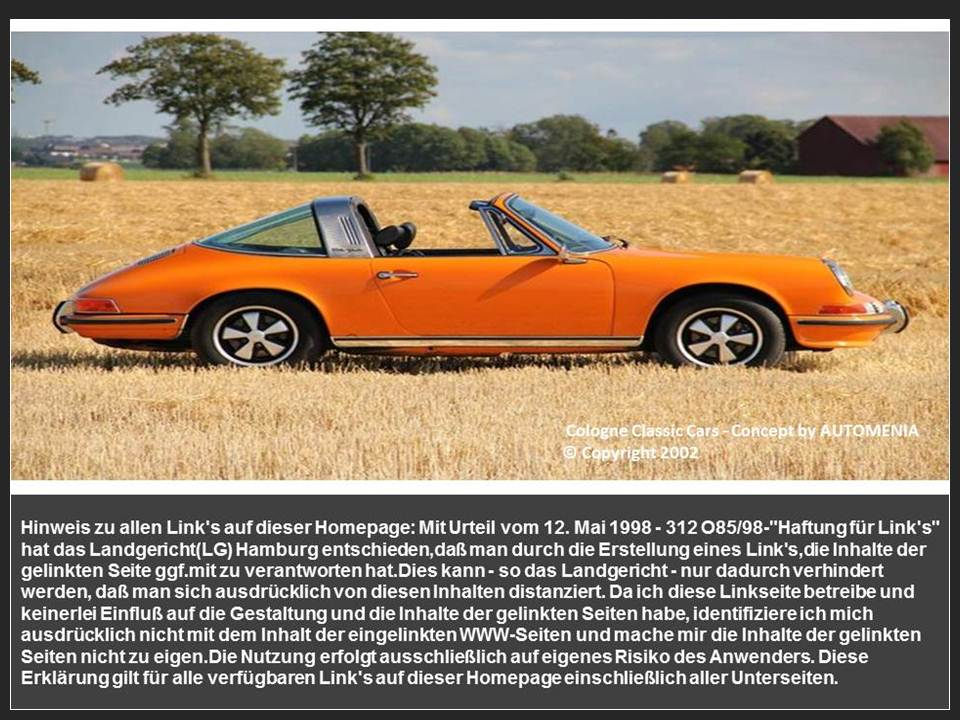 AUTOMENIA - Classic Cars Concept Cologne 2013  - Links Info