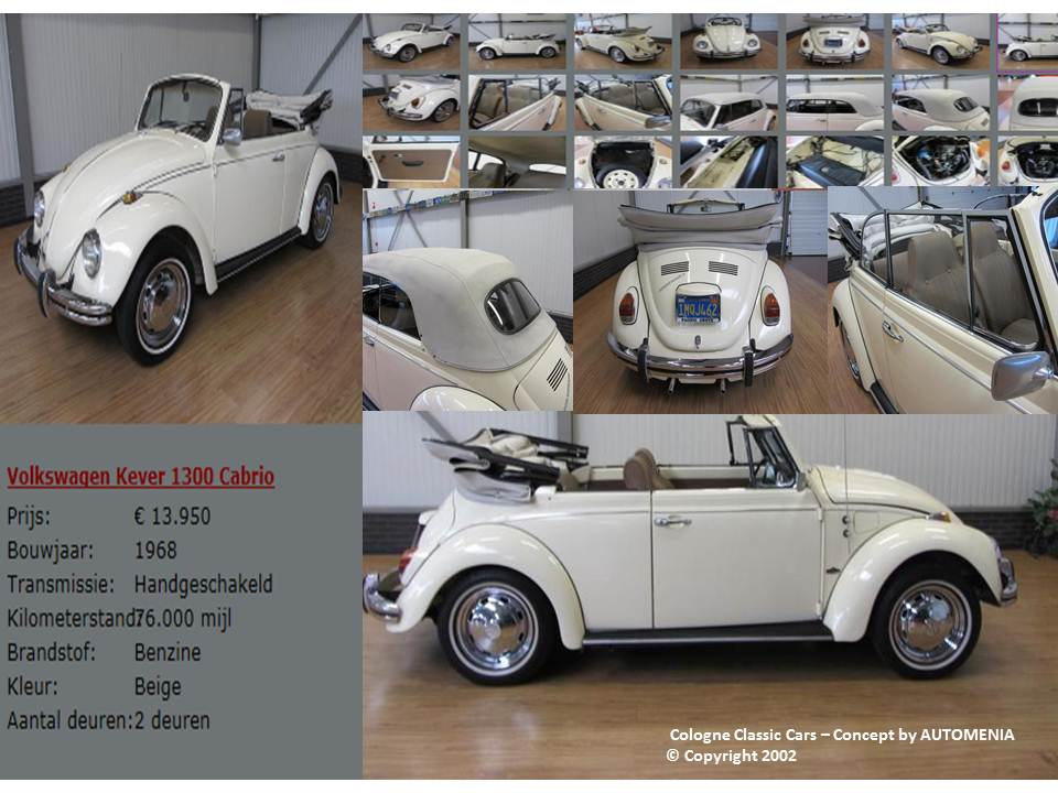 VW Käfer 1300 Cabrio by AUTOMENIA